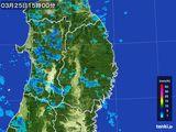 2016年03月25日の岩手県の雨雲レーダー