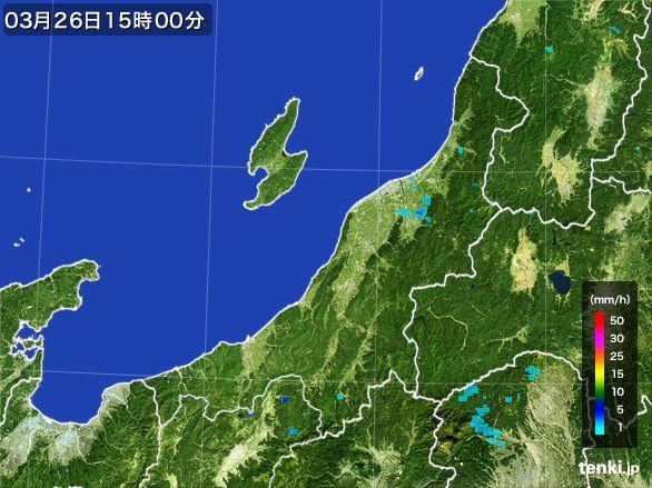 新潟県の雨雲レーダー(2016年03月26日)