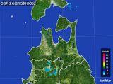2016年03月26日の青森県の雨雲レーダー