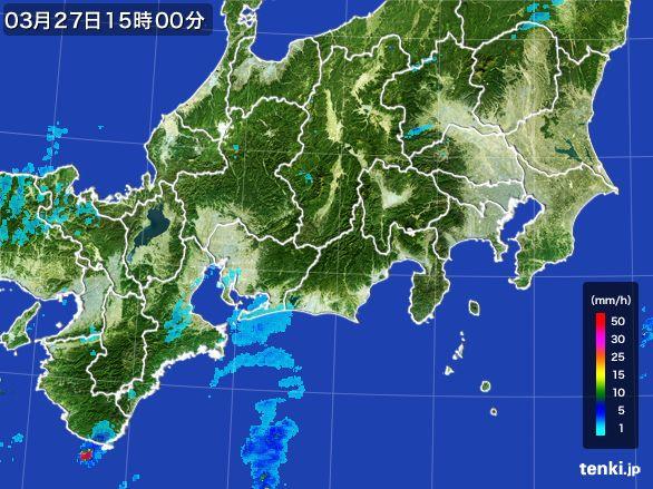 東海地方の雨雲レーダー(2016年03月27日)