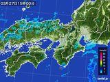 2016年03月27日の近畿地方の雨雲レーダー