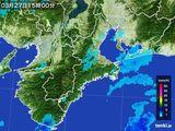 2016年03月27日の三重県の雨雲レーダー