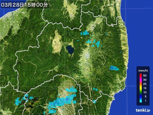 福島県の雨雲レーダー(2016年03月28日)