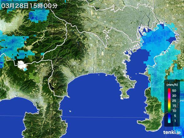 神奈川県の雨雲レーダー(2016年03月28日)