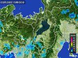 2016年03月28日の滋賀県の雨雲レーダー