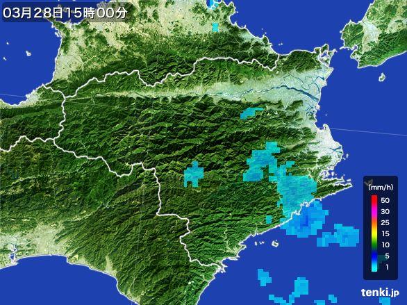 徳島県の雨雲レーダー(2016年03月28日)