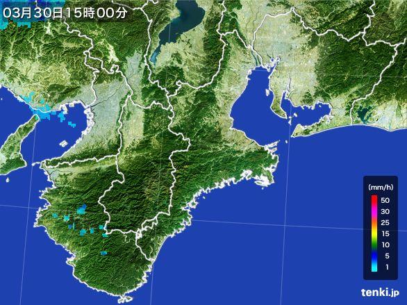 三重県の雨雲レーダー(2016年03月30日)