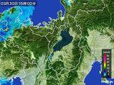 2016年03月30日の滋賀県の雨雲レーダー