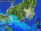 2016年04月01日の関東・甲信地方の雨雲レーダー