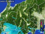 2016年04月01日の長野県の雨雲レーダー