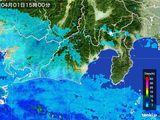 2016年04月01日の静岡県の雨雲レーダー
