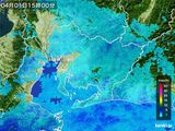 2016年04月01日の愛知県の雨雲の動き