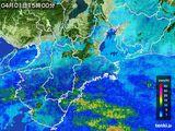 2016年04月01日の三重県の雨雲レーダー