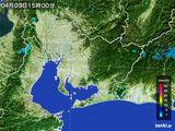 2016年04月03日の愛知県の雨雲の動き