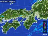 2016年04月04日の近畿地方の雨雲レーダー