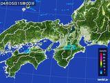 2016年04月05日の近畿地方の雨雲レーダー
