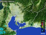 2016年04月05日の愛知県の雨雲の動き