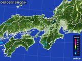 2016年04月06日の近畿地方の雨雲レーダー