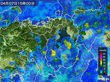 2016年04月07日の滋賀県の雨雲レーダー