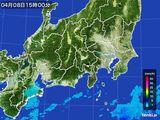 2016年04月08日の関東・甲信地方の雨雲レーダー