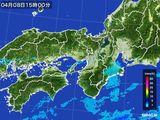 2016年04月08日の近畿地方の雨雲レーダー