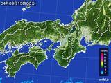 2016年04月09日の近畿地方の雨雲レーダー