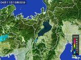 2016年04月11日の滋賀県の雨雲レーダー