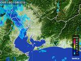 2016年04月13日の愛知県の雨雲の動き