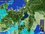 2016年04月18日の滋賀県の雨雲レーダー