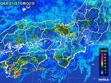 2016年04月21日の近畿地方の雨雲レーダー