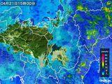 2016年04月21日の滋賀県の雨雲レーダー