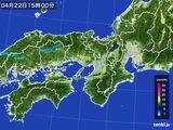2016年04月22日の近畿地方の雨雲レーダー