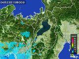 2016年04月23日の滋賀県の雨雲レーダー