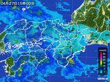 2016年04月27日の近畿地方の雨雲レーダー