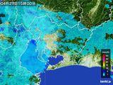 2016年04月27日の愛知県の雨雲の動き