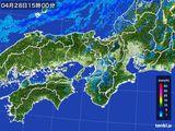 2016年04月28日の近畿地方の雨雲レーダー