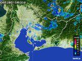2016年04月28日の愛知県の雨雲の動き