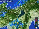 2016年04月28日の滋賀県の雨雲レーダー