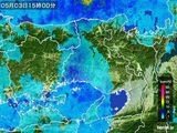 2016年05月03日の兵庫県の雨雲の動き