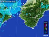 2016年05月03日の和歌山県の雨雲レーダー