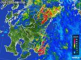 2016年05月03日の宮崎県の雨雲の動き