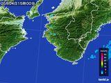 2016年05月04日の和歌山県の雨雲レーダー