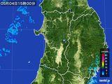 2016年05月04日の秋田県の雨雲の動き