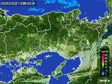 2016年05月05日の兵庫県の雨雲の動き
