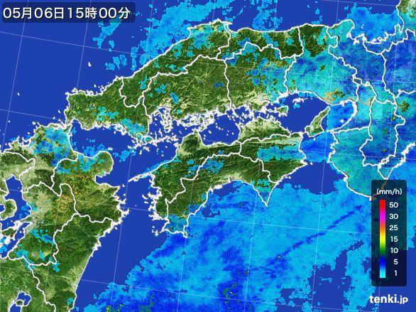 四国地方の雨雲レーダー(2016年05月06日)