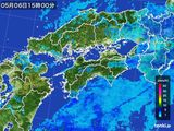 2016年05月06日の四国地方の雨雲の動き