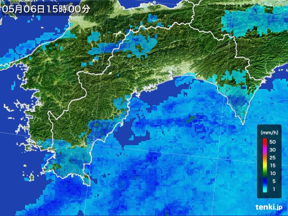 高知県の雨雲レーダー(2016年05月06日)