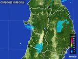 2016年05月06日の秋田県の雨雲の動き