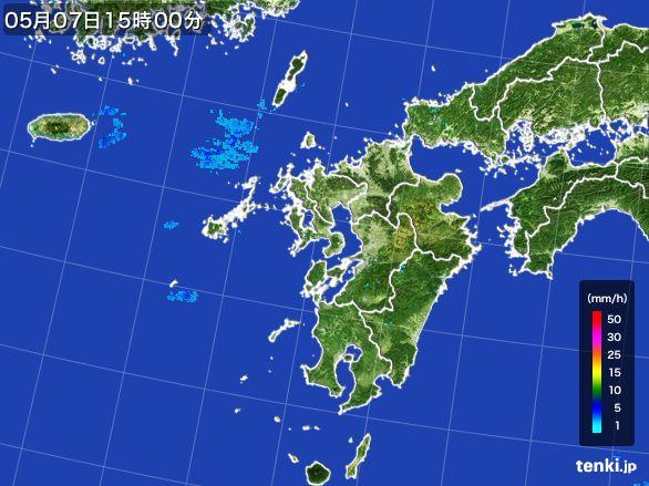 九州地方の雨雲レーダー(2016年05月07日)