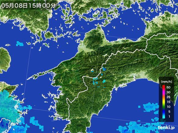 愛媛県の雨雲レーダー(2016年05月08日)